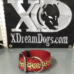 2 in dark red leopard