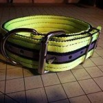 2 in hot yellow black reflective