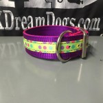 2 in purple candy dots