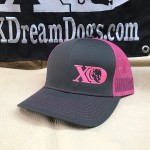 XD Logo Grey Hot Pink Richardson Trucker
