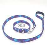 1 Collar Lead Set- Liquid Purple Outer- Black Inner