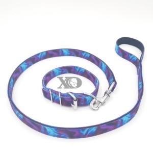 1 Collar Lead Set- Liquid Purple Outer- Black Inner